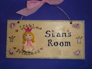 3d Little Princess Plaque Wooden Sign Handmade Personalised to Order Unique Item Bedroom Playroom Playhouse Wendyhouse